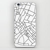 London Road Blocks White iPhone & iPod Skin