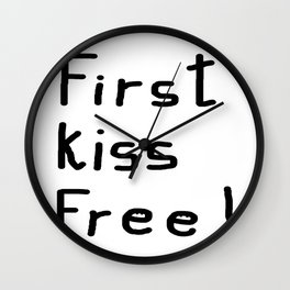 First Kiss Free Wall Clock