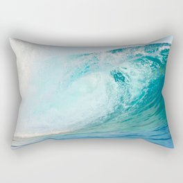 Pacific big surfing wave breaking Rectangular Pillow