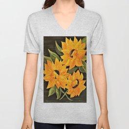 Sunflower Trio Unisex V-Neck