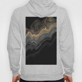 Abstract Bold Brown Grey Beige Gold Black Marble Swirls Hoody