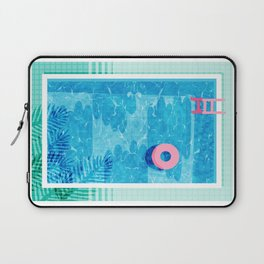 Chillin' - poolside palm springs vacation resort tropical swim swimming retro neon throwback 1980s Laptop Sleeve