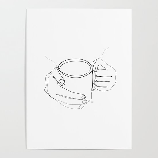 """"""" Kitchen Collection """" - Hands Holding Hot Cup Of Coffee/Tea by aelissedesign"""