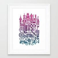 castle Framed Art Prints featuring Castle Mama by C86 | Matt Lyon