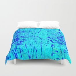 Abstract Oil on Water Duvet Cover