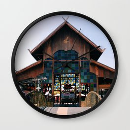 Floating Market Wall Clock