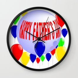 Ball and Balloon Fathers Day Wall Clock