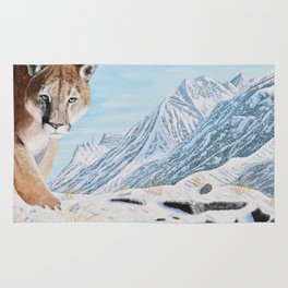 Mountain Lion in the Rockies Rug