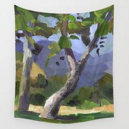 BETTE DAVIS PARK, plein air landscape by Frank-Joseph Paints Wall Tapestry