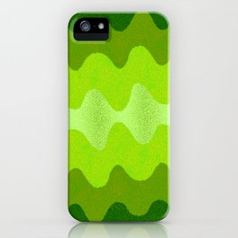 Under the Influence (Marimekko Curves) Eat Your Greens iPhone Case