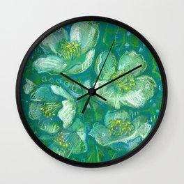 Jasmine, Summer Flowers, Decorative Floral Wall Clock