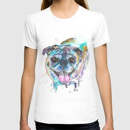 HD the Pug Watercolor T-shirt