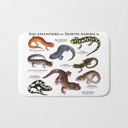 Salamanders of North America Bath Mat