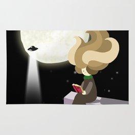 Hila and the moon Rug