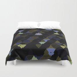 Shimmering Triangle Pattern Duvet Cover