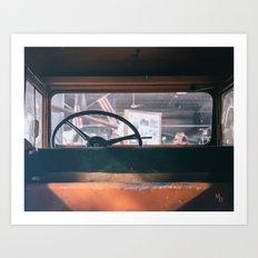 In the car Art Print