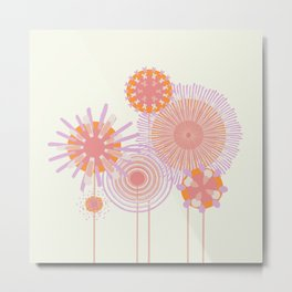 Pastel Flower Bunch Metal Print