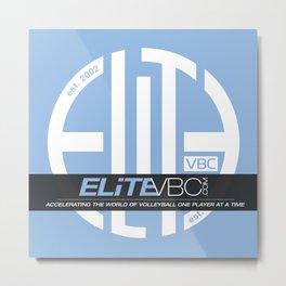 Elite White/Powder w/ Badge Logo Metal Print