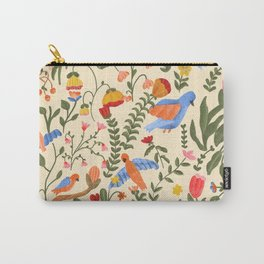 Tropical Garden Pattern Carry-All Pouch
