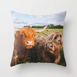 Highland Cows - Blep Throw Pillow