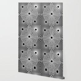 5 circles black background Wallpaper