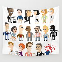 pulp fiction Wall Tapestries featuring Pulp Fiction Iotacons by Andy Rash