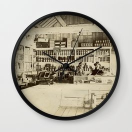 The General Store - Vintage Photo Wall Clock