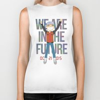 marty mcfly Biker Tanks featuring Marty McFly in the Future by Sebast Hoyos