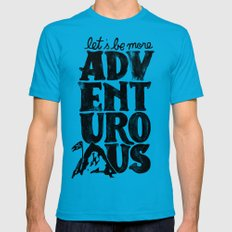 MORE ADVENTUROUS II MEDIUM Teal Mens Fitted Tee
