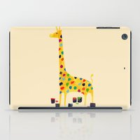 number iPad Cases featuring Paint by number giraffe by Picomodi