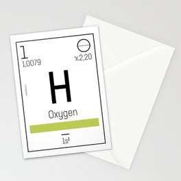 Oxygen - chemical element Stationery Cards