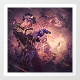 Dragons of Dorcastle Art Print