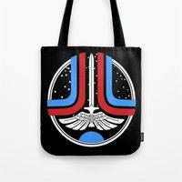 league Tote Bags featuring Star League by Adrian Sipe