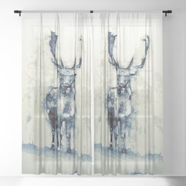 Deer Sheer Curtain