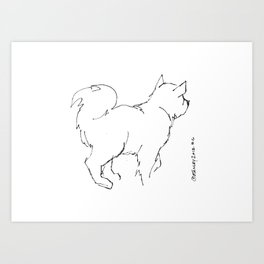 Talk to the Tail Art Print