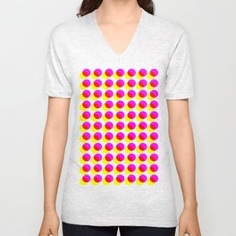 dots pop pattern 2 Unisex V-Neck