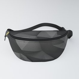 Black and gay monochromatic polygonal pattern Fanny Pack