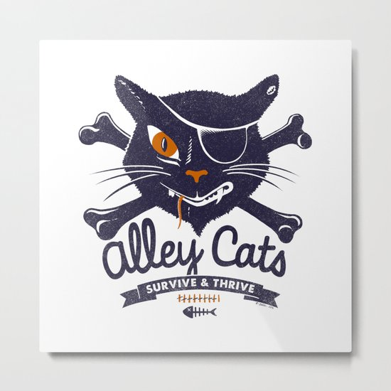 Alley Cats Metal Print