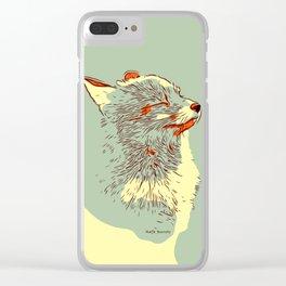 Fox Sake Zen Clear iPhone Case
