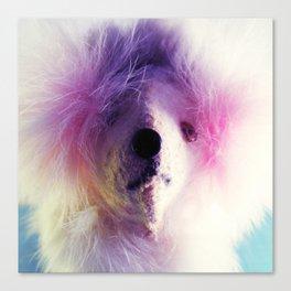 Mechanical Puppy Mugshot Canvas Print