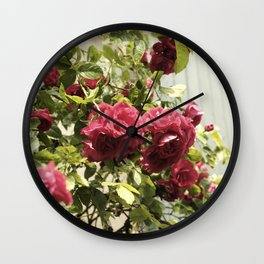 Vintage Rose II  | Pastel Color | Street Photography | Flower Photography | Fine Art Photo Print Wall Clock