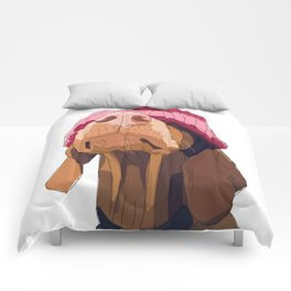 Hipster Vizsla Comforters