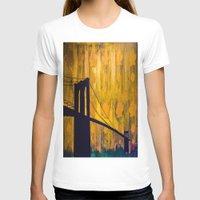brooklyn bridge T-shirts featuring Brooklyn Bridge by KINGCHANCE