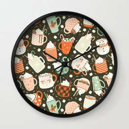 Christmas Cocoa Wall Clock