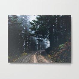 Adventure Forest Road - Pacific Northwest Wanderlust Metal Print