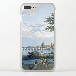 Christian Gottlieb Hammer View of Dresden Clear iPhone Case