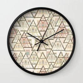 Pattern Houses Wall Clock