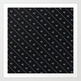 "Illustration . ""Scattering of black Diamonds."" Art Print"