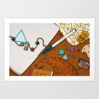 heroes of olympus Art Prints featuring Desk of Heroes by alkart