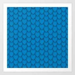 Dragon Scales in Blue Art Print